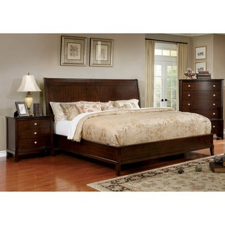 Furniture of America Kami Transitional 3-piece Brown Cherry Bedroom Set