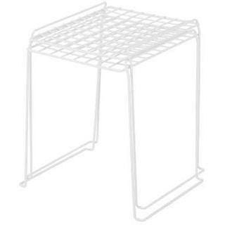 IRIS 12-inch Stackable Wire Locker Shelf, White