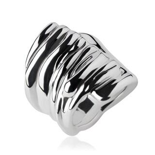 Handmade Electroform Silver Overlay Texture/Plain Ring (Israel)