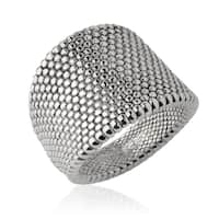 Handmade Electroform Silver Thin Zigzag Ring (Israel)