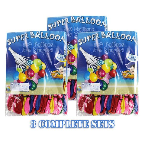 3 Super Water Balloons 3pc set - Auto Water Balloon Filler (300+ Balloons)