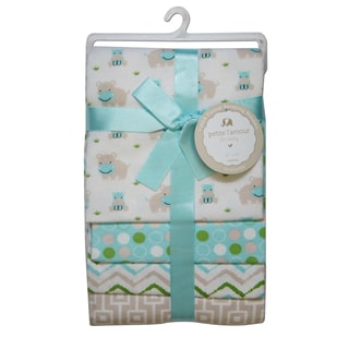 Petite L'Amour Receiving Blankets Baby Boys (Pack of 4)