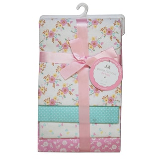 Petite L'Amour Receiving Blankets Baby Girls (Pack of 4)