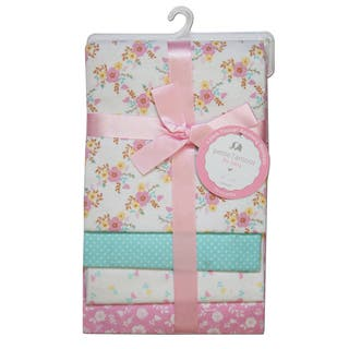 Petite L'Amour Receiving Blankets Baby Girls (Pack of 4)|https://ak1.ostkcdn.com/images/products/17127379/P23394651.jpg?impolicy=medium