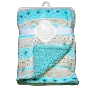CRIBMATES Reversible Soft Plush Blanket Diamond Design