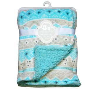 CRIBMATES Reversible Soft Plush Blanket Diamond Design|https://ak1.ostkcdn.com/images/products/17127381/P23394691.jpg?impolicy=medium