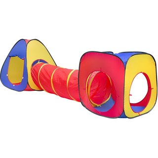 Matney Multi-color Playhouse Tent Crawl Tunnel 3-Piece