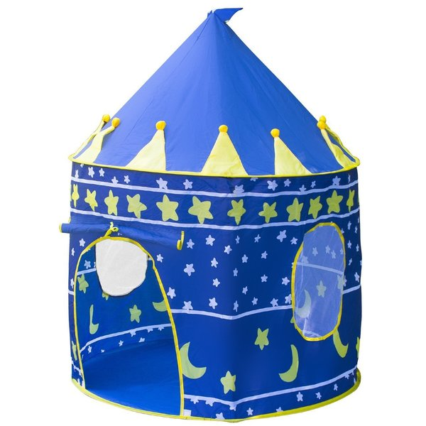 Matney Kids Blue Playhouse Castle Tent with Portable Carry Bag