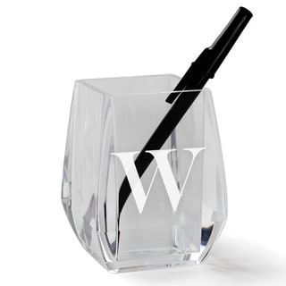 MY INITIAL PERSONALIZED ACRYLIC PEN AND PENCIL HOLDER