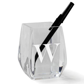 MY INITIAL PERSONALIZED ACRYLIC PEN AND PENCIL HOLDER|https://ak1.ostkcdn.com/images/products/17127450/P23394704.jpg?impolicy=medium
