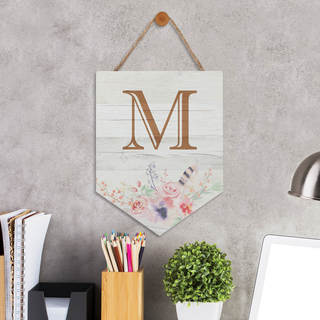 LARGE INITIAL PERSONALIZED HANGING SIGN