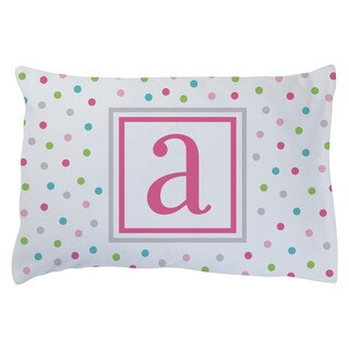 PINK INITIAL PERSONALIZED PLUSH FLEECE PILLOWCASE FOR GIRLS