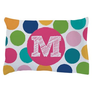 HER INITIAL PERSONALIZED PLUSH FLEECE PILLOWCASE