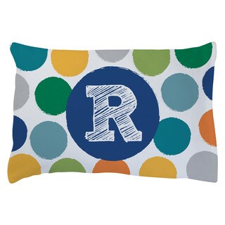 HIS INITIAL PERSONALIZED PLUSH FLEECE PILLOWCASE