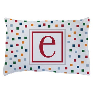 HIS TRENDY INITIAL PERSONALIZED PLUSH FLEECE PILLOWCASE