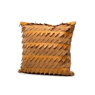 "20"" x 20"" Leather & Suede Throw Pillow (Set of 2)"