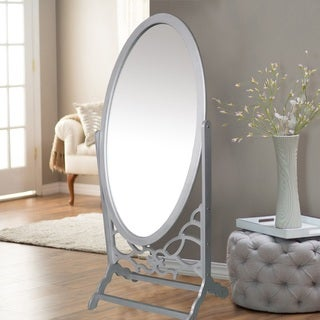 Chic Home York Mirror Modern Free standing, Spindle-accent legs, Floor Mirror - A/N