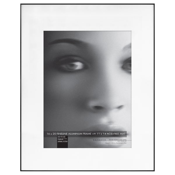 shop mcs industries fineline black metal 16 x 20 picture frame with