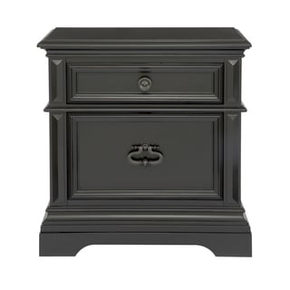 Brookfield Black Wood Nightstand