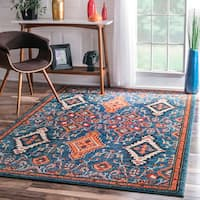 nuLOOM Traditional Ornamental Diamonds Multi Rug - 6'7 x9'