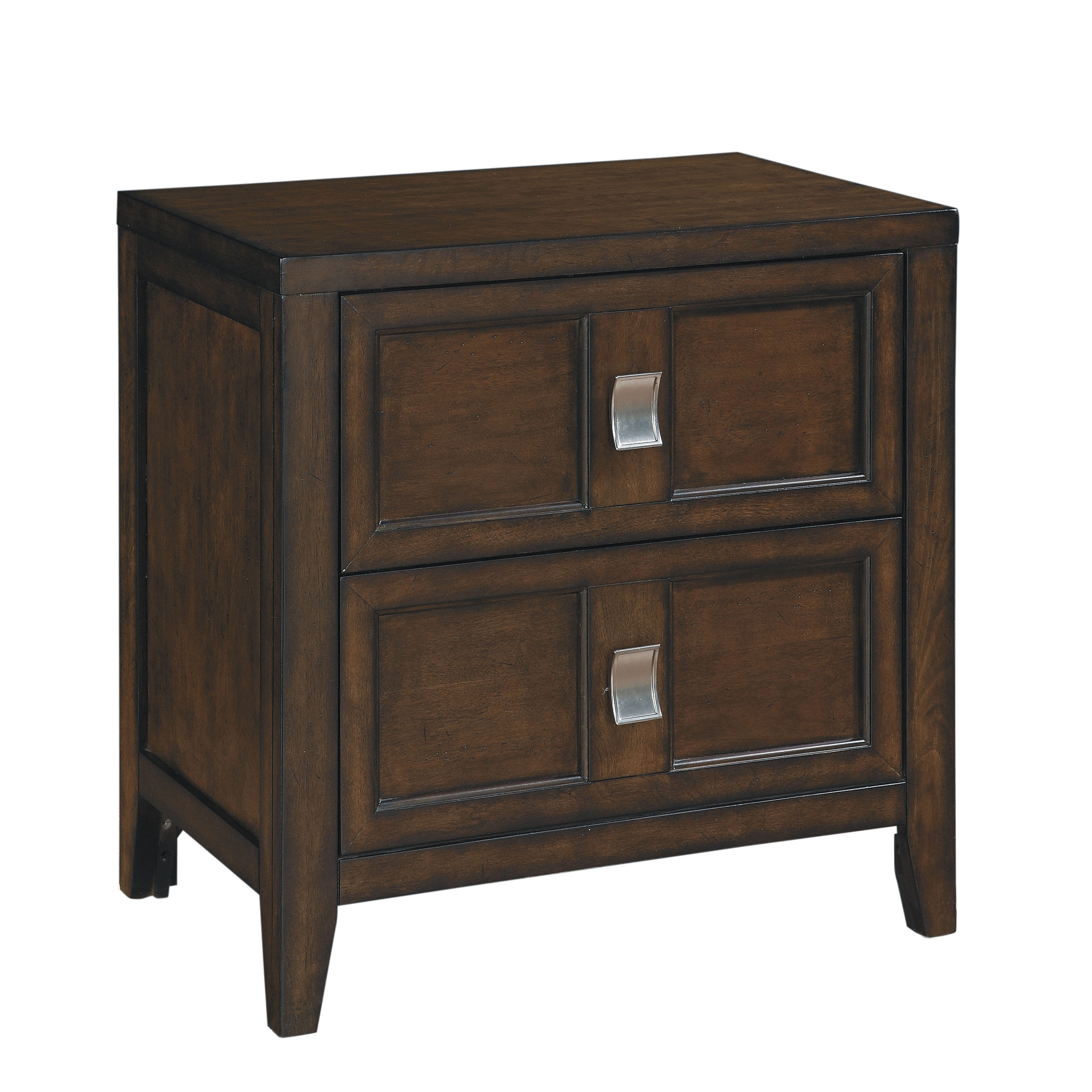 Bayfield Wood 2 Drawer Nightstand Overstock 17127656