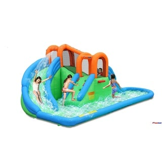 Bounceland New Island Water Slide with basketball hoop/pool