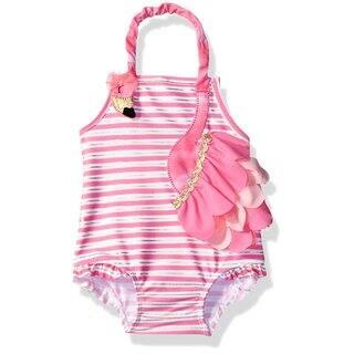 One Piece Girls Flamingo Swimsuit|https://ak1.ostkcdn.com/images/products/17127772/P23395009.jpg?impolicy=medium