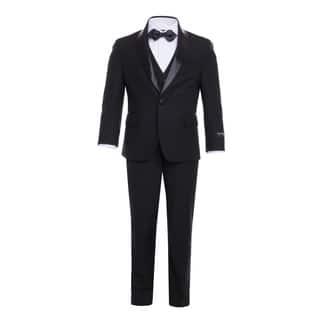 Ferrecci Boys 5-Piece Shawl Collar Tuxedo Suit Set|https://ak1.ostkcdn.com/images/products/17127786/P23395048.jpg?impolicy=medium