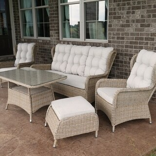 Charleston Way Outdoor Patio Sofa Set With Table