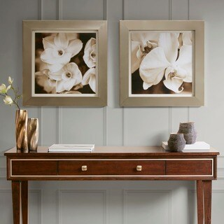 Madison Park Signature Timeless Love Natural Floral Framed Graphic Art 2-piece Set