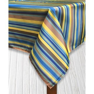 Sante Fe Stripe Imported Indoor/Outdoor Tablecloth (2 options available)