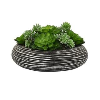 Faux Succulents Pot - Green