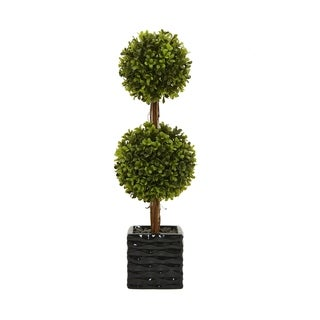 Faux Topiary Pot - Green