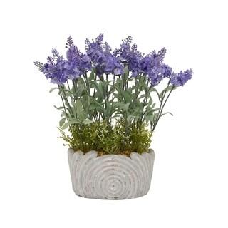 Faux Lavender Pot - Purple