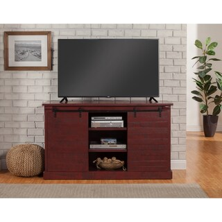 """Martin Svensson Home Barn Door 60"""" TV Stand (Option: Red - Reclaimed/Distressed/Red Finish)"""