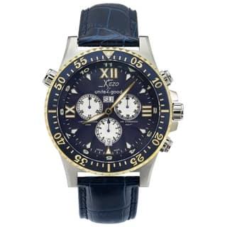 Xezo Men's Air Commando Swiss-Quartz Luxury Sports Chronograph Watch D45-BUL, 2nd Time Zone, 200 Meters WR - Blue https://ak1.ostkcdn.com/images/products/17128299/P23395448.jpg?impolicy=medium