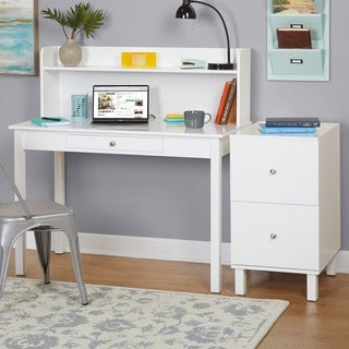 Simple Living Foster Desk and Filing Cabinet Set