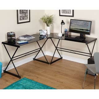 Simple Living Alex L-Shaped Desk (2 options available)