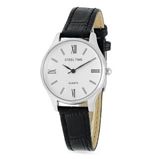 Piatella Ladies Alloy Watch in 2 Colors - Silver|https://ak1.ostkcdn.com/images/products/17128586/P23395668.jpg?impolicy=medium