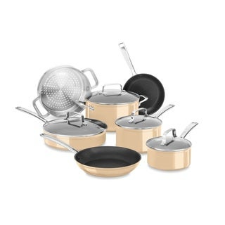 KitchenAid Hard Anodized Non-Stick 11 Piece Set, Toffee Delight