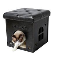 Pet Life Foldaway Collapsible Designer Cat House Furniture Bench