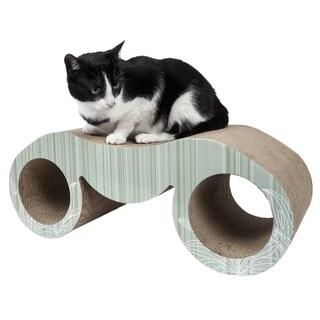 Pet Life Binocular Ultra Premium Modern Exquisite Contoured Cat Scratcher
