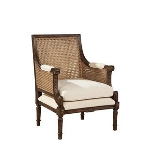 Edouard Caned Bergere Chair (Brown/ Silver) (Set of 2)