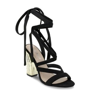 Olivia Miller 'Brentwood' Multi Strap Laced Special Heel Detailed Sandals