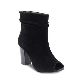 Olivia Miller 'Glendale' Slouchy Peep Toe Heel Ankle Booties