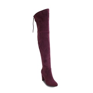 Olivia Miller 'Roosevelt' Top Back Lace Heel Thigh High Boots (More options available)