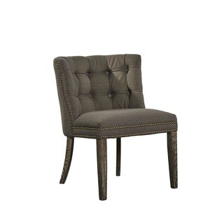 Montegue Tufted Linen Accent Chair