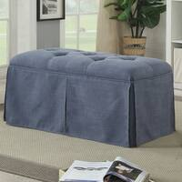 Furniture of America Terla Transitional Tufted Upholstered 36-inch Ottoman