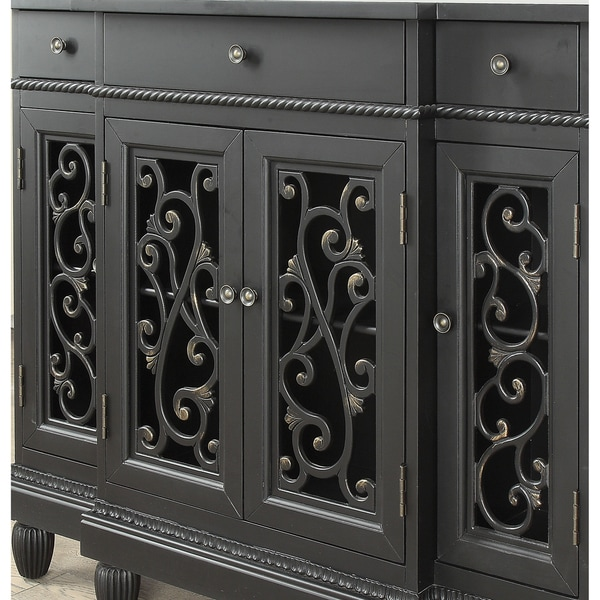 Furniture Of America Clenine Vintage Multi Storage Hallway Cabinet