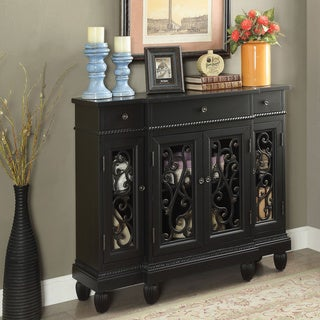 Furniture of America Clenine Vintage Multi-storage Hallway Cabinet
